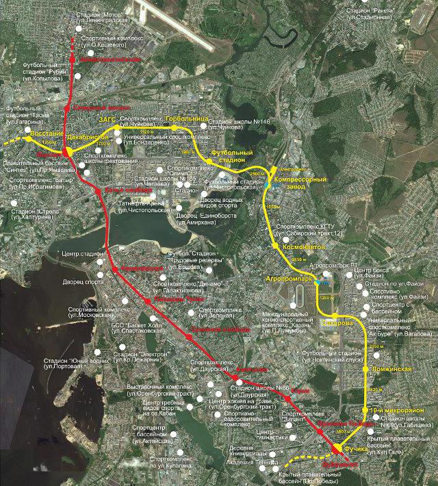 Схема трассировки Второй линии