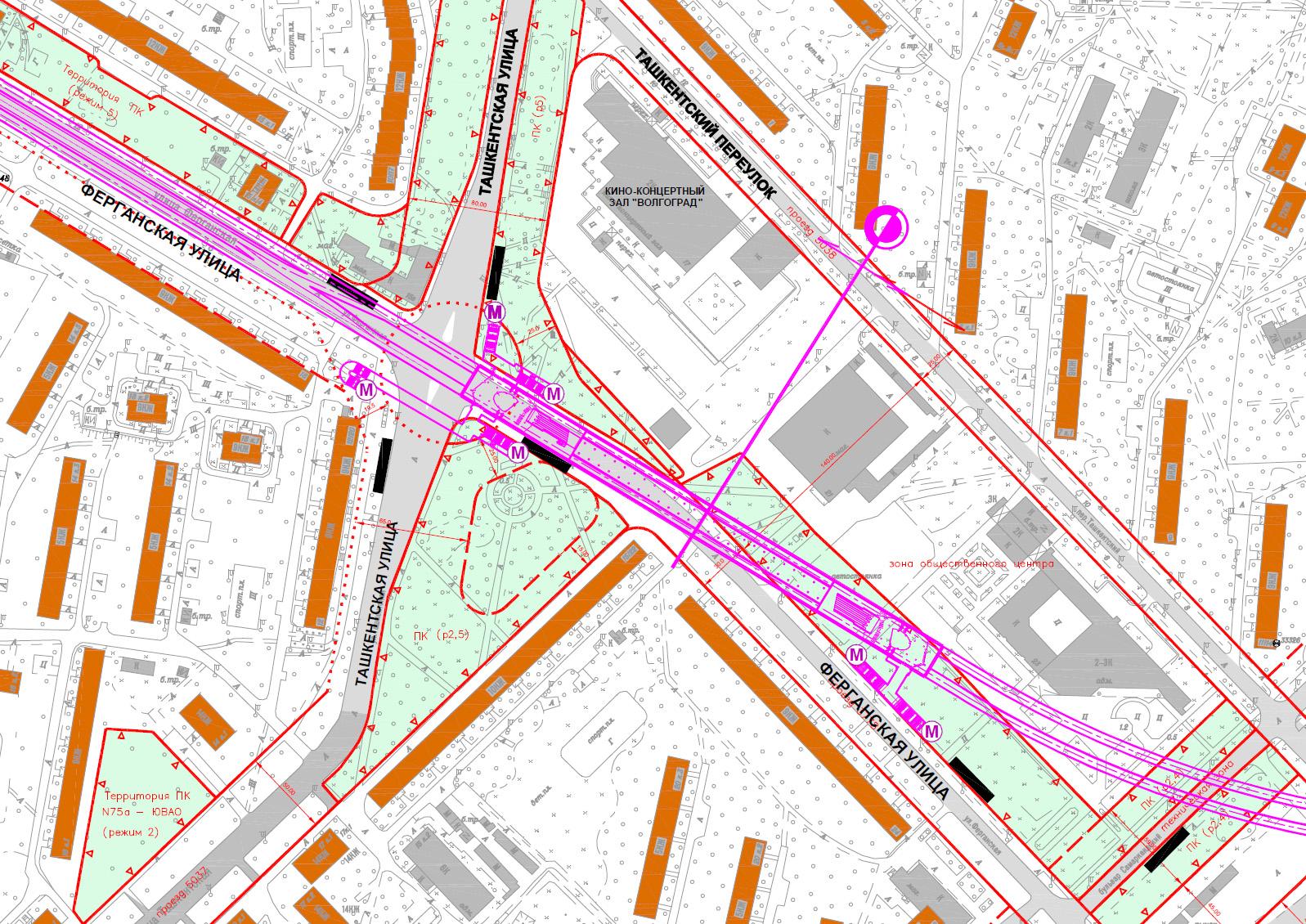 план схема метро ферганская улица