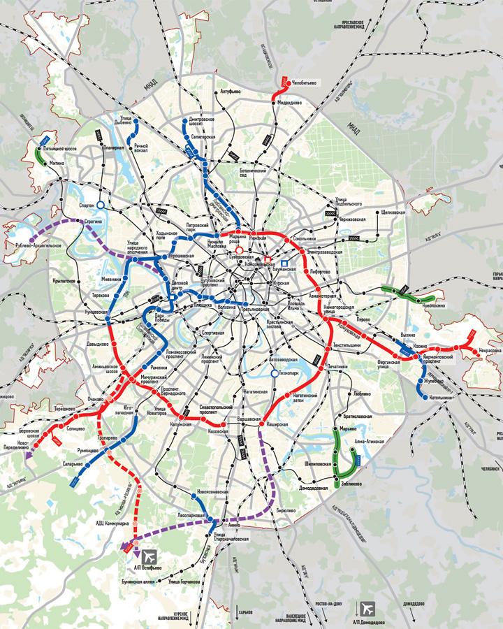 Схема развития метро.