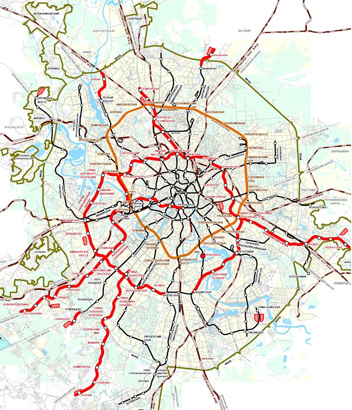 Схема развития метрополитена до 2020 года фото 878