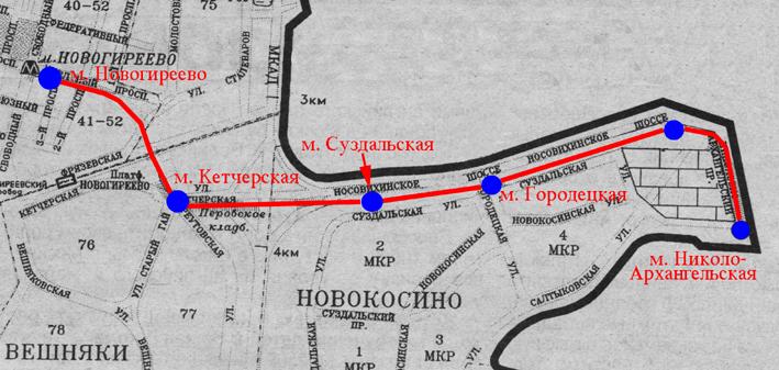 Новокосино и в Помосковье
