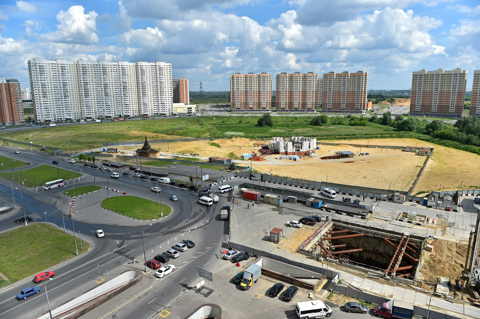 In Nekrasovka, roads will be laid as part of the construction of the Lyubertsy aeration station 55